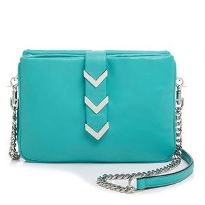 NEW Mackage Stassi Teal Leather Crossbody Bag $320